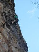 Rock Climbing Photo: Tim Mijal fighting!