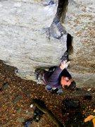 "Rock Climbing Photo: Jessica Hoffmann pluggin'& chuggin"""