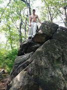 Rock Climbing Photo: Top of the Old Pines Boulder