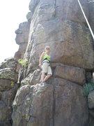 Rock Climbing Photo: Cindy starting Tenacious.