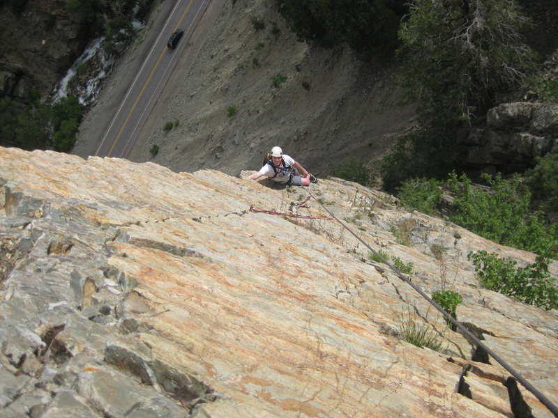 Rock Climbing Photo: Eric Allen on the second pitch (or the top of the ...