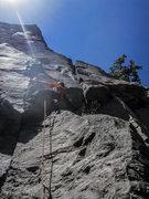 Rock Climbing Photo: Jonny on Blue Collar Ape. Photo by Gigi.