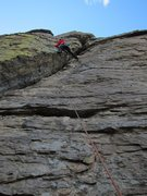 Rock Climbing Photo: Stepping over Guano a Guano to top out Who's Naili...