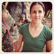 Rock Climbing Photo: Me. And a red rope.