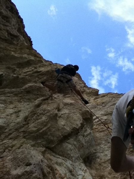 Canyon right before the crux