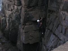 Rock Climbing Photo: To the top