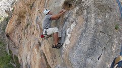 Rock Climbing Photo: move after crux