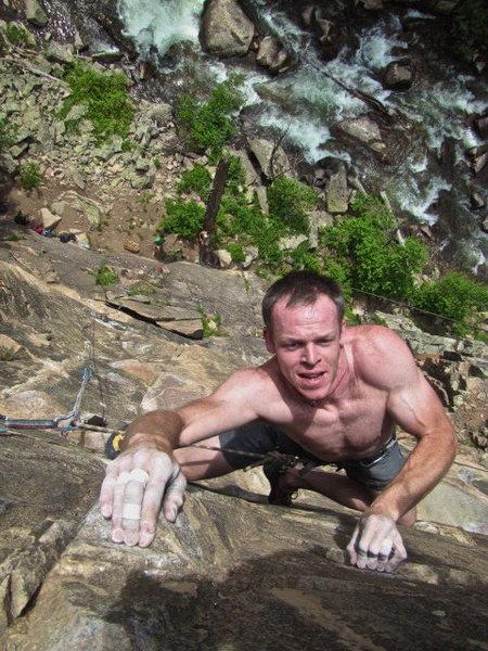 "Rock Climbing Photo: Ben ""Gunz"" Kiessel pullin' through the p..."