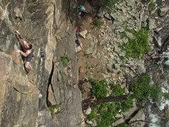 Rock Climbing Photo: Ben Kiessel climbing.