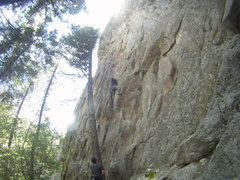 Rock Climbing Photo: Great route, not sure it goes 11d though, one of t...