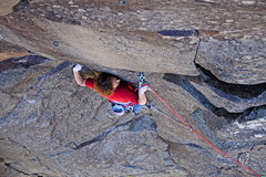 Rock Climbing Photo: James Q Martin moving into the airy .10+ direct fi...