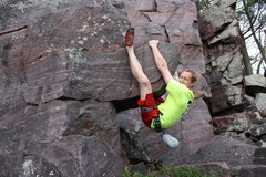 Rock Climbing Photo: Up and Hanging