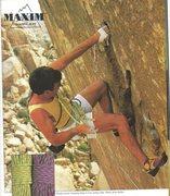 Rock Climbing Photo: Randy on Pumping Hate 5.13 1988