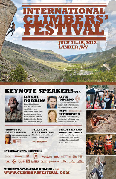 2012 Climbers Festival Poster