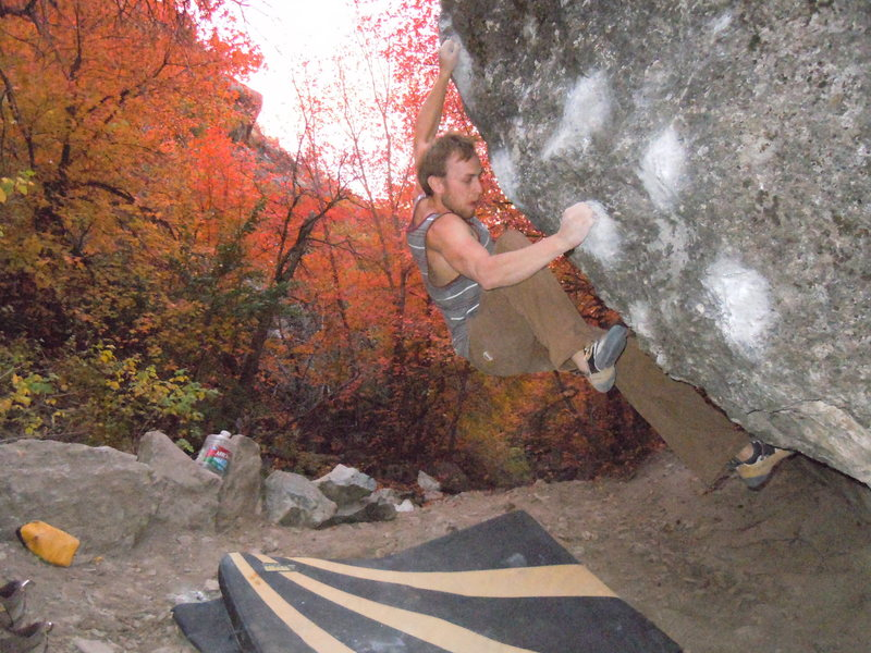 Rock Climbing Photo: austin george Dig deep v10