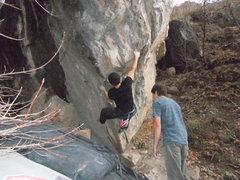 Rock Climbing Photo: nate brun FA Big Hug v7