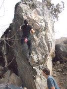 Rock Climbing Photo: nate brub Big Hug right exit v8