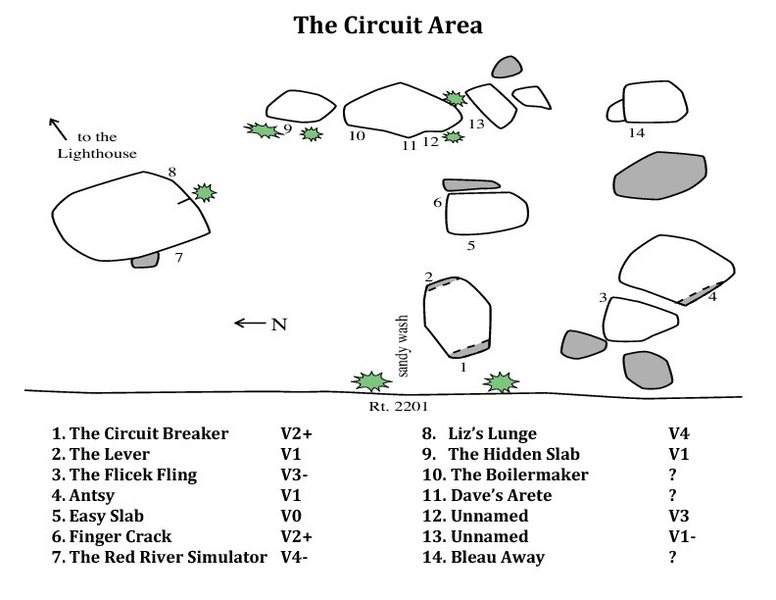 Rock Climbing Photo: The Circuit Area from Mike A. Farnsworth's Mini gu...
