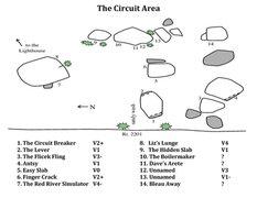 Rock Climbing Photo: The Circuit Area from Mike A. Farnsworth's Mini gu...