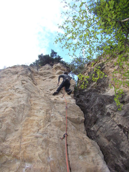 Jerry getting humped into submission by Jessica Crimpson, 5.10b.<br> <br> The Danks.