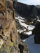 Rock Climbing Photo: Looking down to Caroline Lake.