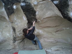 Rock Climbing Photo: melanie brun on realizing gravity left to right v8...