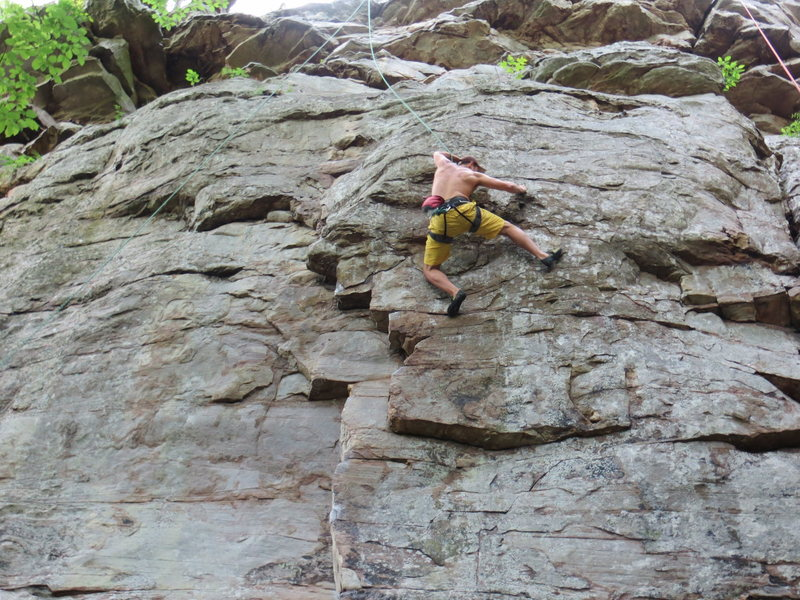 G works final moves above the crux