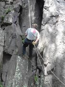 Rock Climbing Photo: West bluff rappelling