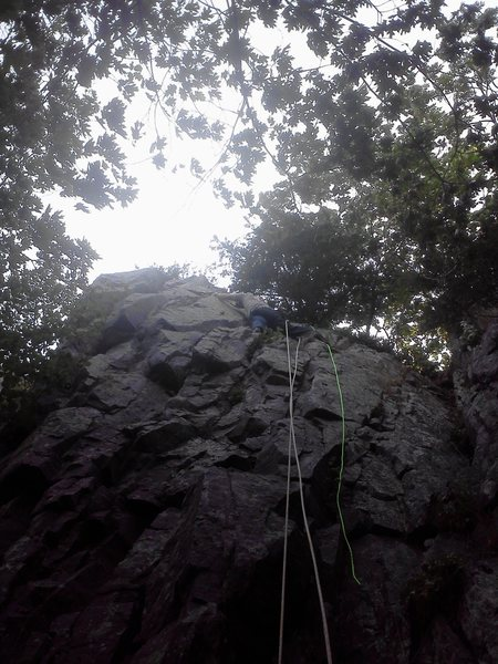 Climbing at Devil's Lake