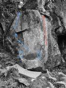 Rock Climbing Photo: 2 good problems.