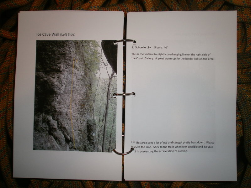 Rock Climbing Photo: Ice Cave Wall - left