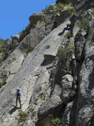 Rock Climbing Photo: Jerry I belaying Karl K - mostly through the busin...