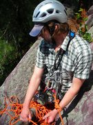 Rock Climbing Photo: Belaying the 3rd on chipper 2 pitch ascent of Weis...