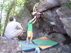 Rock Climbing Photo: Nice job Kaitlyn.
