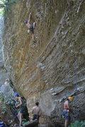 Rock Climbing Photo: Having tons of fun on this overhung jug haul!