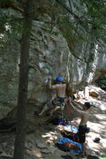 Rock Climbing Photo: just getting off the ground proved difficult for m...