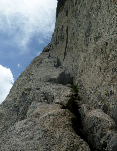 Rock Climbing Photo: Following THE FLAKE!