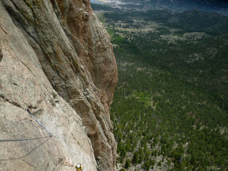 Rock Climbing Photo: P3 traverse.