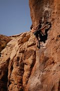 Rock Climbing Photo: Ryan James uses the go-go Gadget leg to get it don...
