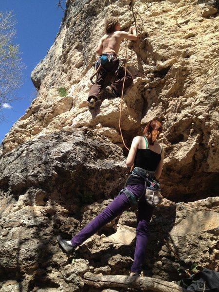 Tyler Climbing at hobble creek.