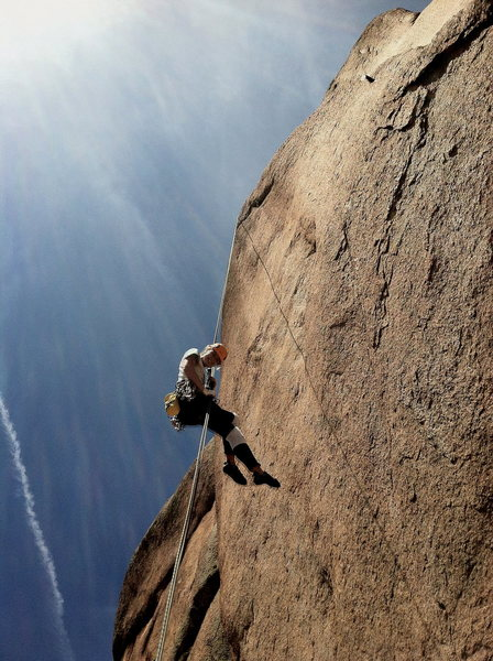 Rock Climbing Photo: Rapping off of Holy Saturday.