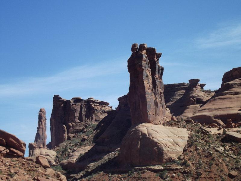 Rock Climbing Photo: Arches National Park (Park Ave)