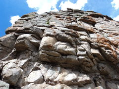 Rock Climbing Photo: The left side of the southwest face.  The V slot o...