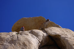 Rock Climbing Photo: Climbers on the 2nd pitch of Overhang Bypass. Got ...