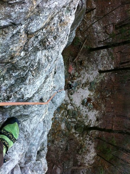 Unnamed route at Moore's wall, NC