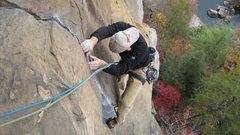Rock Climbing Photo: november colors below punk wave.