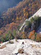 Rock Climbing Photo: Late October 2010 above Dillard. JJ in the foregro...