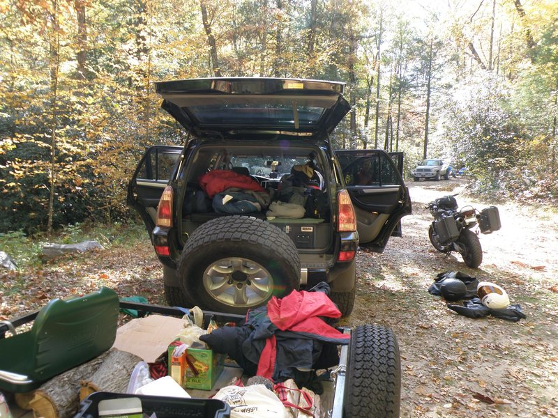 Comfort camping for two...<br> <br> ...sparse conditions at ammon's branch.
