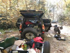 Rock Climbing Photo: Comfort camping for two...  ...sparse conditions a...