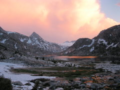 Rock Climbing Photo: Leaving the Evolution Basin after an evening storm...